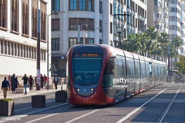 tramway à casablanca - casablanca photos et images de collection