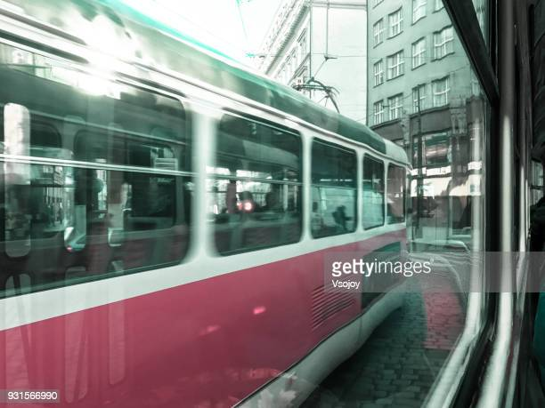 tramway view, prague, czech republic - vsojoy stock pictures, royalty-free photos & images