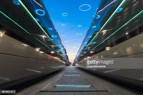 Tramways at Cours de l'Intendance, Bordeaux, France