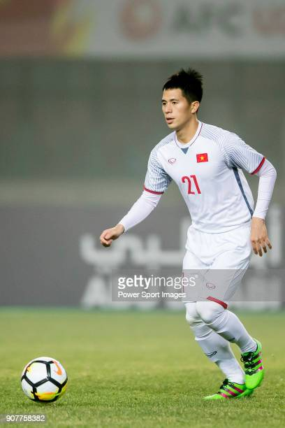 Tran Dình Trong of Vietnam in action during the AFC U23 Championship China 2018 Group D match between Syria and Vietnam at Changshu Sports Center on...