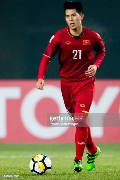 Tran Dình Trong of Vietnam in action during the AFC U23 Championship China 2018 Quarterfinals match between Iraq and Vietnam at Changshu Stadium on...