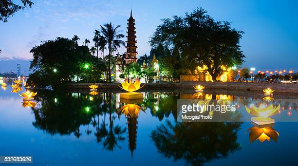 Tran Quoc pagoda in the full-moon day
