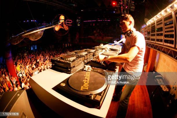 Trance DJ Tiesto overlooking the crowd Cream at Amnesia Ibiza 2005
