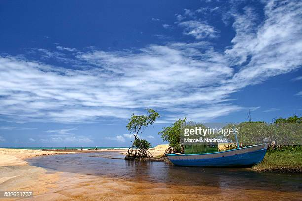 trancoso river, bahia - marcelo nacinovic stock pictures, royalty-free photos & images