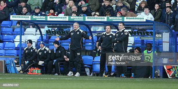 Tranmere Rovers manager Micky Adams looks on during the Sky Bet League Two match between Tranmere Rovers and Northampton Town at Prenton Park on...