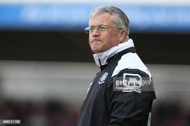 Tranmere Rovers manager Micky Adams looks on during the Sky Bet League Two match between Northampton Town and Tranmere Rovers at Sixfields Stadium on...