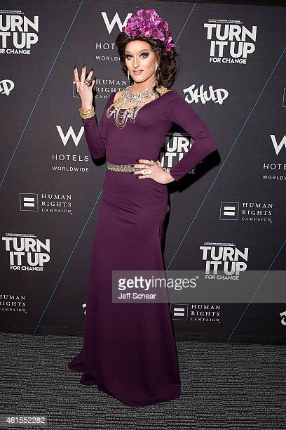 Trannika Rex attends W Hotels and Jennifer Hudson Turn It Up For Change to Benefit HRC at W ChicagoLakeshore on January 15 2015 in Chicago Illinois