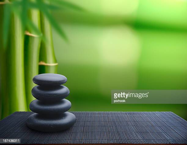 tranquil balance - bamboo stock photos and pictures
