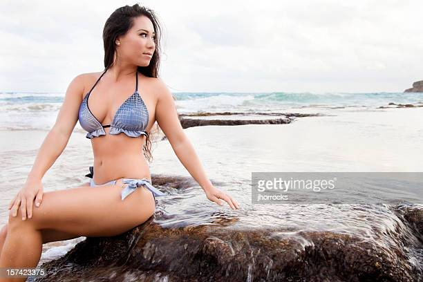 tranquil beauty - curvy asian woman stock pictures, royalty-free photos & images