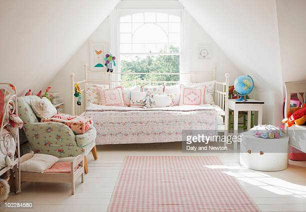 tranquil childs bedroom - childhood stock pictures, royalty-free photos & images