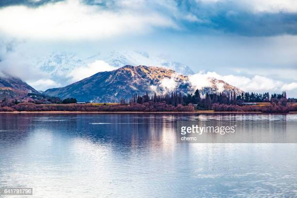 tranquil lake - queenstown stock pictures, royalty-free photos & images