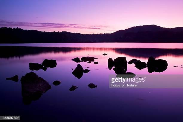 Lago Cena de tranquilidade