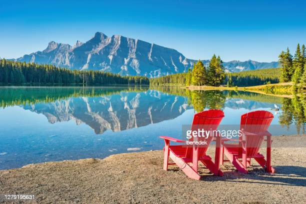 tranquil landscape banff national park alberta canada - alberta stock pictures, royalty-free photos & images