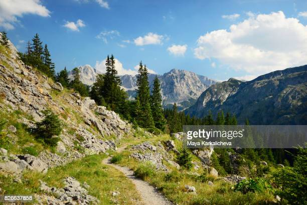 Tranquil mountain footpath in Magic, Bosnia and Herzegovina