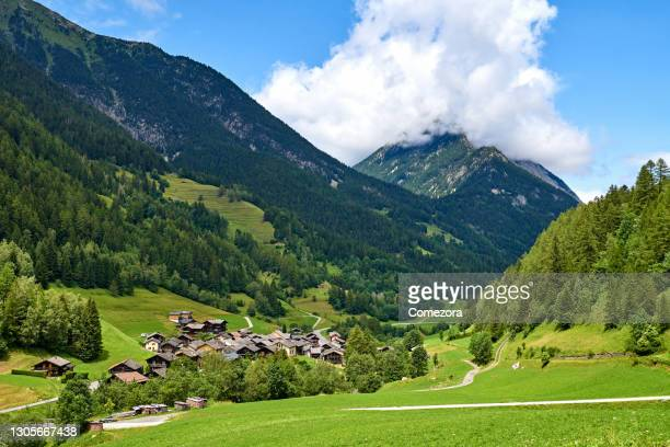 tranquil nature landscape, swiss alps - vaud canton stock pictures, royalty-free photos & images