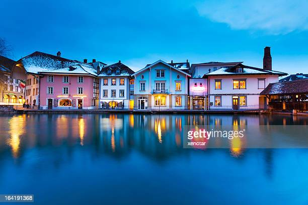 Tranquil Night in Switzerland