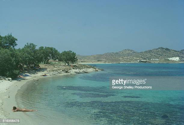 Tranquil Paros beach clothing optional