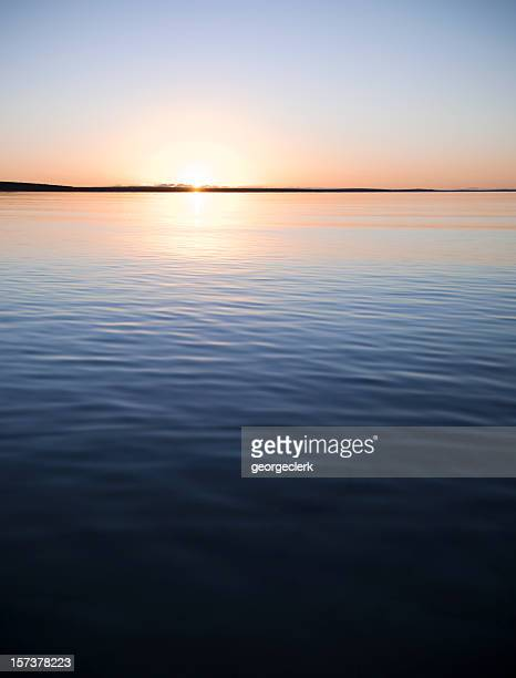 Tranquil Sunset over Calm Water