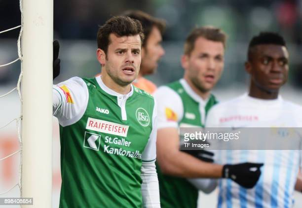 Tranquillo Barnetta of St. Gallen looks on during the Raiffeisen Super League match between FC St. Gallen and FC Zuerich on December 03 at AFG Arena...