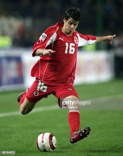 Tranquillo Barnetta of Switzerland in action during the FIFA World Cup Playoff, 2nd Leg match between Turkey and Switzerland at The Sukru Saracoglu...