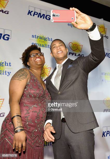Trans Advocate Deshanna Neal and Media Presenter Don Lemon attend the ninth annual PFLAG National Straight for Equality Awards Gala on March 27, 2017...