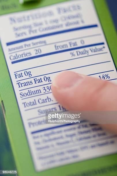 Trans Fat 0g Nutrition Label