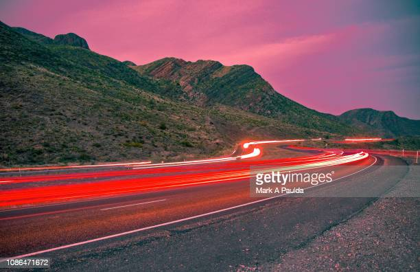 trans mountain rush hour - el paso texas stock pictures, royalty-free photos & images