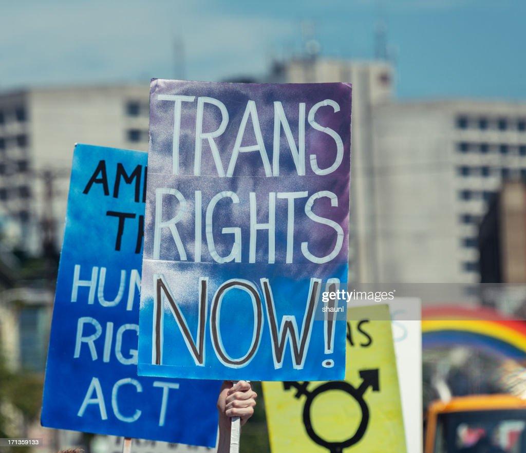 Trans Rights : Stock Photo