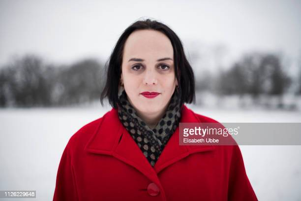 Trans woman in a Swedish winter landscape