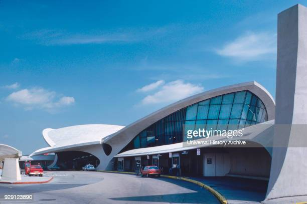 Trans World Airlines Terminal John F Kennedy Airport New York City New York USA designed by Eero Saarinen photographed by Balthazar Korab 1963