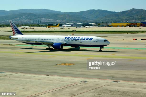 Transaero Boeing 777, Barcelona-El Prat Airport, Catalonia, Spain