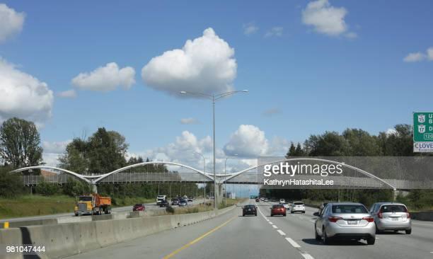 trans-canada highway, surrey, british columbia - surrey british columbia stock photos and pictures