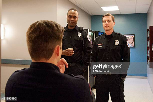 SIRENS Transendual Episode 204 Pictured Kevin Bigley as Brian Czyk Kevin Daniels as Hank St Clare Michael Mosley as Johnny Farrell