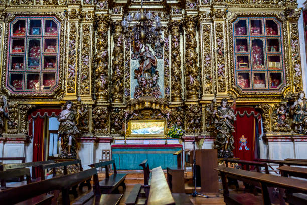 Transepto, Sé Nova de Coimbra, chapel of the chapel, a Catholic temple located in Largo da Feira in the extinct parish of Sé Nova, a city and municipality of Coimbra in Portugal, from the 17th century,