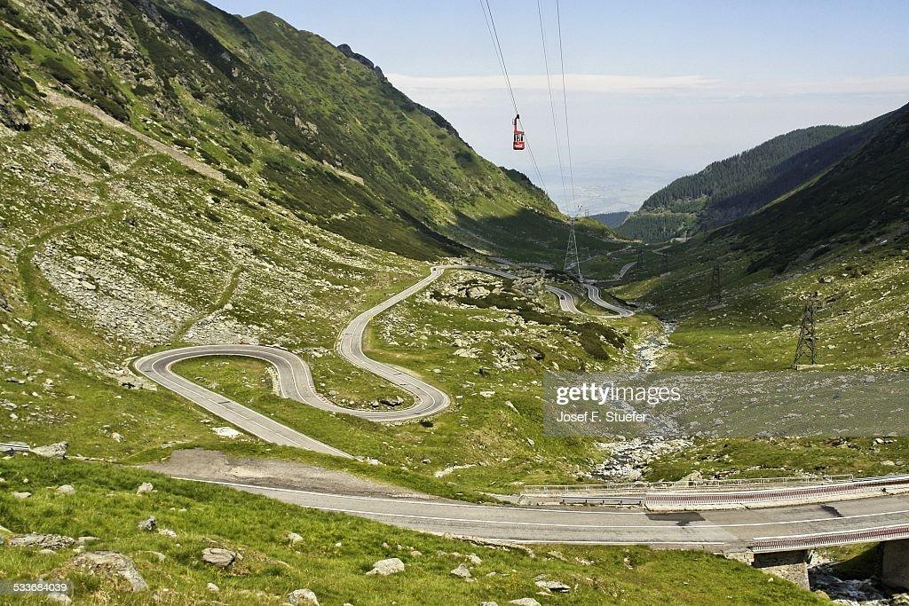 Transfagarasan highway : Foto stock