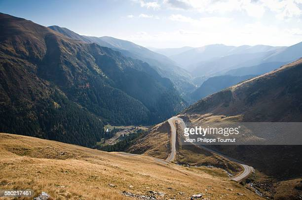 Transfagarasan road and the valley of Arges