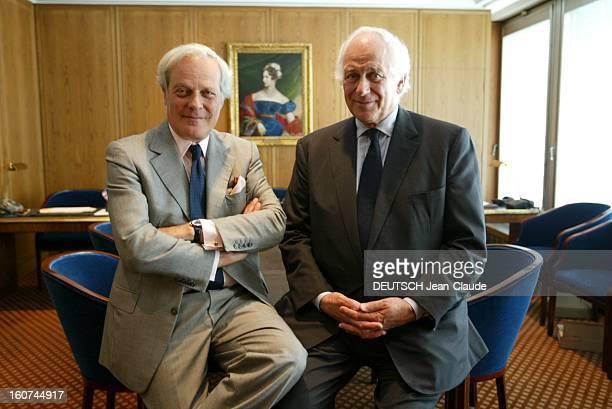 Transfer Of Power At Rothschild. David DE ROTHSCHILD succède à sir Evelyn DE ROTHSCHILD à la tête de la banque londonienne : les deux hommes dans les...
