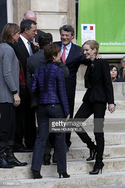 Transfer of Power between Jean Louis Borloo and new French Ecology Minister Nathalie KosciuskoMorizet In Paris France On November 15 2010Transfer of...