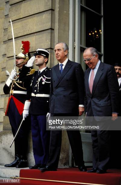 Transfer of power between Pierre Beregovoy and Edouard Balladur in Paris France on March 30 1993