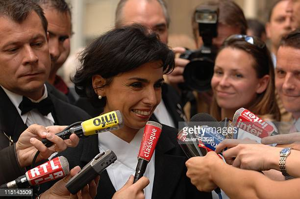 Transfer of power in Ministry of Justice between Rachida Dati and Pascal Clement outgoing minister in Paris France on May 18 2007