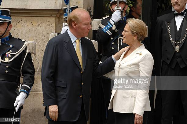 Transfer of power in Ministry of the Interior between Francois Baroin and Michelle Alliot Marie in Paris, France on May 18, 2007 - Michelle Alliot...