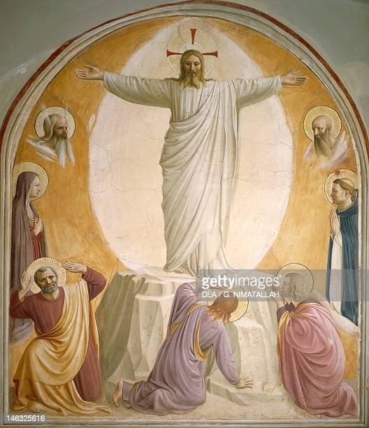 Transfiguration by Giovanni da Fiesole known as Fra Angelico fresco Sixth cell St Mark's Convent Florence