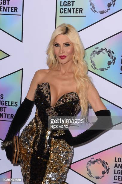Riley Buss arrives for the Los Angeles LGBT Center Vanguard Awards September 22 2018 at the Beverly Hilton in Beverly Hills California