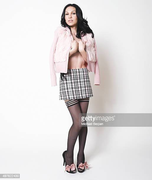 Transgender Celebrity Plastic Martyr poses for portrait at Bel Air Camera Hosts The SAP The Starving Artists Project on November 17 2015 in Los...