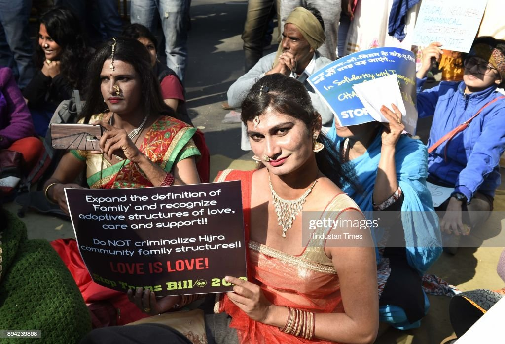 Transgender Community Members Protest Against Transgender  Bill 2016