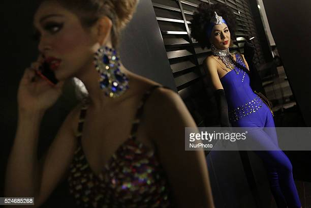A transgender dancer smokes back stage during the Transgender Day of Remembrance in Kuala LumpurTransgender Day of Remembrance is a day to...