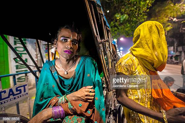 transgender, hijra in india, on the night - hijra stock pictures, royalty-free photos & images