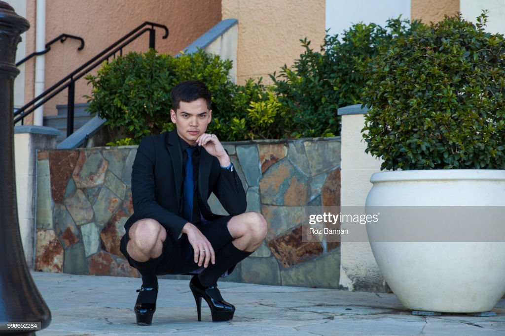 d8c607a647 Transgender Male Rocking Some Awesome High Heel Shoes Stock Photo ...