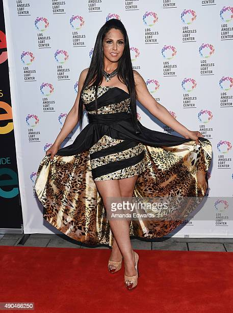 Transgender television personality Xristina arrives at the premiere party for Fuse's 'Transcendent' at The Village at Ed Gould Plaza on September 28...