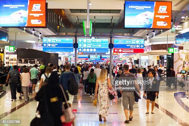 Transit and duty free corridor in airport Dubai